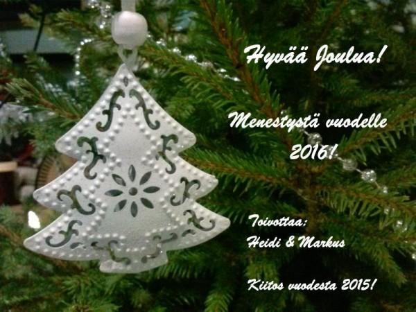 Hyvää Joulua! Menestystä vuodelle 2016! Toivottaa: Insinööritoimisto Hallenberg Oy